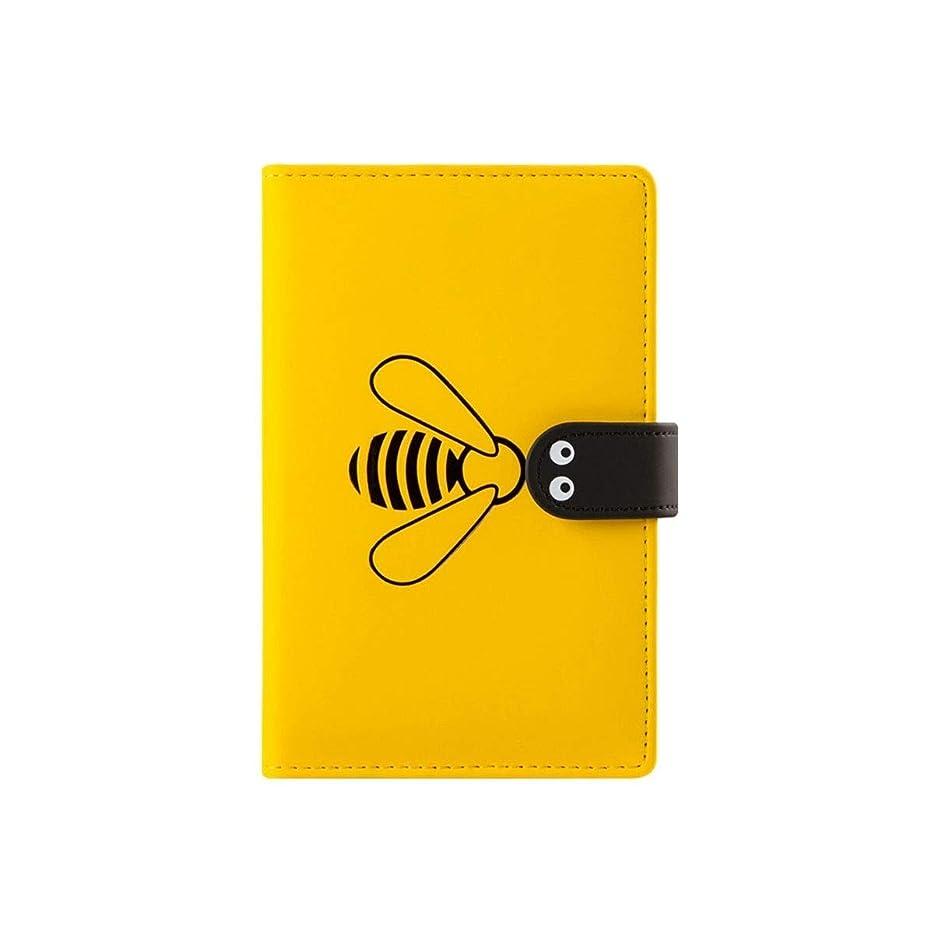 ハンドアカウントブック、ガールハート格子縞のピクセル絵画グリッド、パーソナライズされたクリエイティブかわいいポータブルハンドブック、文芸絶妙な小さな新鮮な、高品質 (Color : Yellow, Size : A (square))