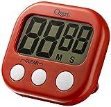 Ozeri KT1-R Kitchen Timer, 3.25in x 0.75in x 3 in, Red