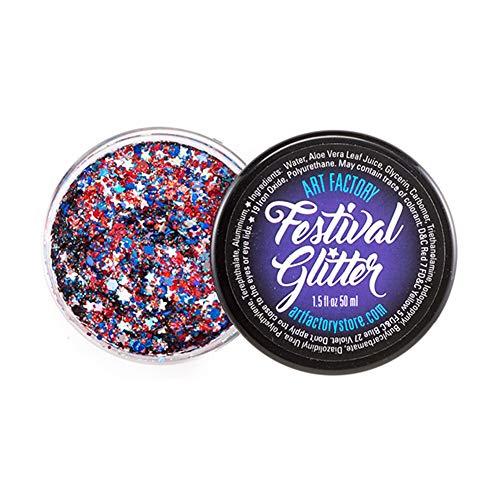Arte Festival de fábrica del brillo - fuegos artificiales (50 ml / 1 onzas líquidas), cosmética del gel del brillo