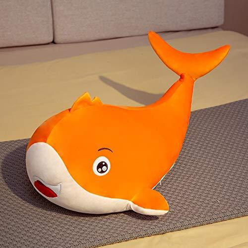 Bonitos juguetes de peluche de ballena coloridos abrazables, muñeco de animal marino relleno, almohada de tiburón suave, cojín para niños, juguete para bebés, regalo de cumpleaños encantador 45cm B