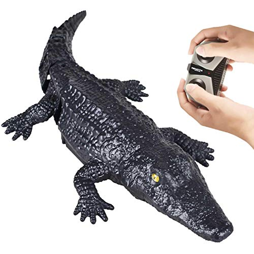 Kining 2.4G Impermeable RC Barco Remote Control Crocodile,RC Barco Simulación Crocodile,RC Juguetes...
