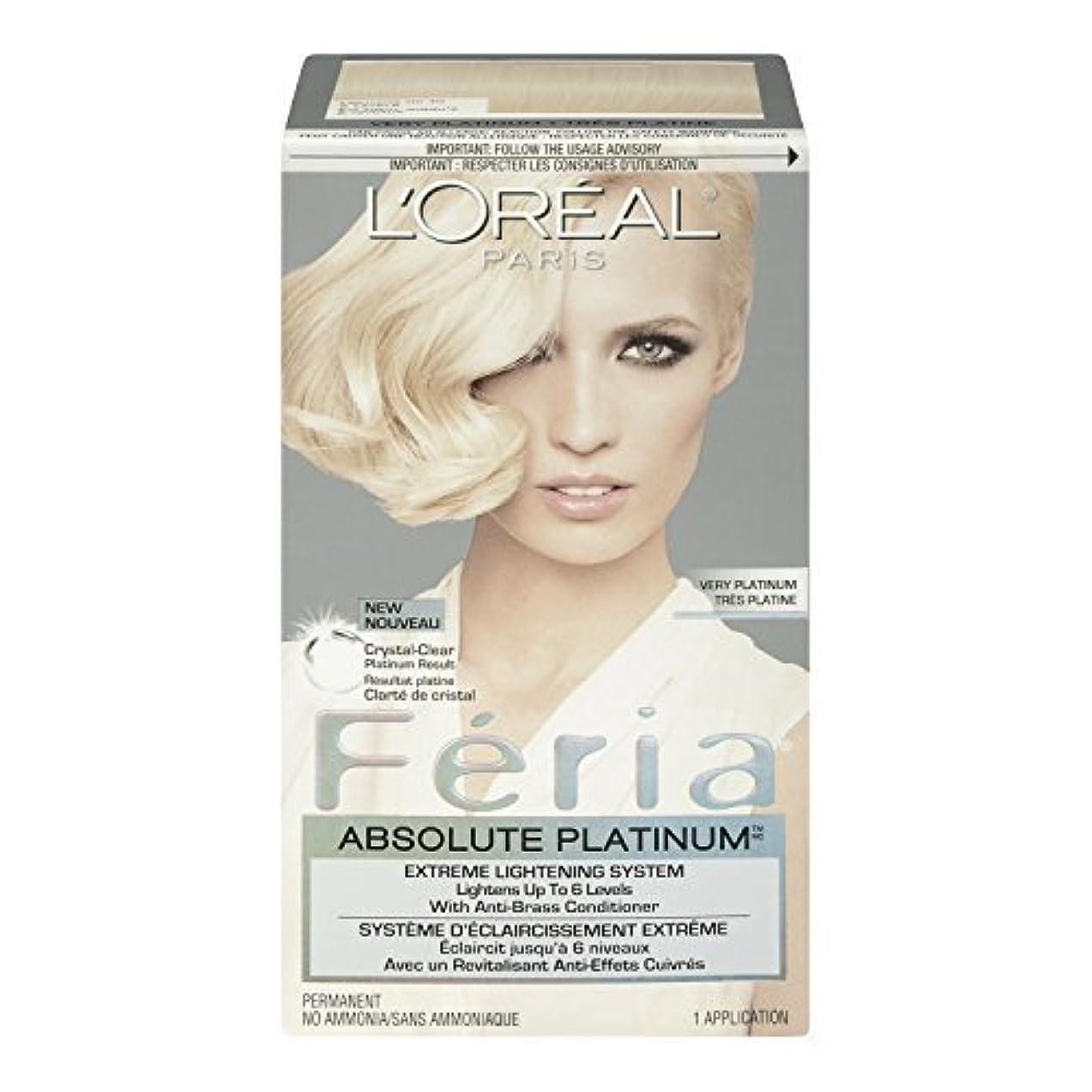 ファイルジェスチャー妨げるL'Oreal Feria Absolute Platinums Hair Color, Very Platinum by L'Oreal Paris Hair Color [並行輸入品]