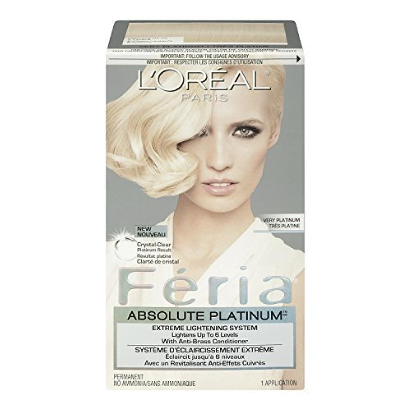代名詞勤勉なとにかくL'Oreal Feria Absolute Platinums Hair Color, Very Platinum by L'Oreal Paris Hair Color [並行輸入品]