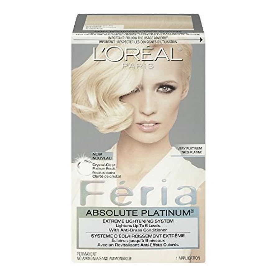 誓う虫発表L'Oreal Feria Absolute Platinums Hair Color, Very Platinum by L'Oreal Paris Hair Color [並行輸入品]