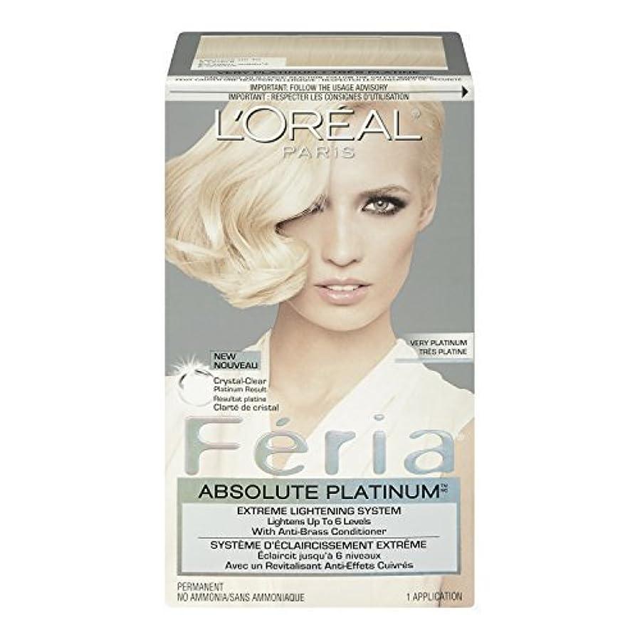 電子レンジおしゃれじゃない妊娠したL'Oreal Feria Absolute Platinums Hair Color, Very Platinum by L'Oreal Paris Hair Color [並行輸入品]