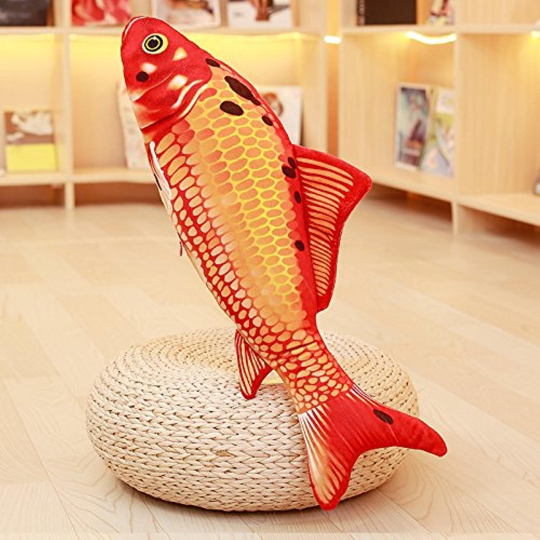 BAONZEN Simulación de Calamar Calamar Juguete de Peluche pez Payaso nia Grande Modelo Animal 3D cojín Lindo, pez de Colors Rojo, 1,4 Metros