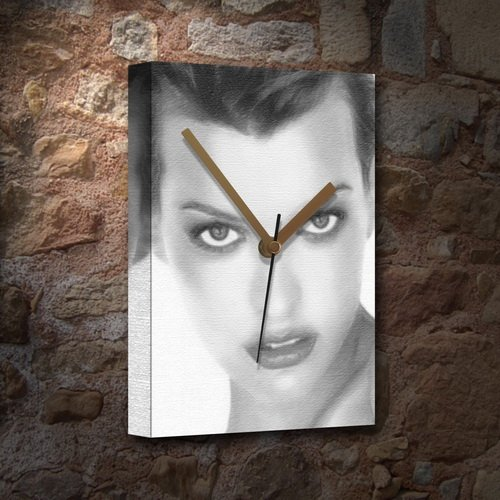 SEASONS MILLA JOVOVICH - Canvas Clock (A5 - Signed by the Artist) #js003