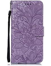 Hoesje voor Moto Z3 / Z3 Play Wallet Book Case, Magneet Flip Wallet met Kaarthouders slots Robuuste schokbestendige Bookcase voor Motorola Moto Z3 Play - JEEB021174 Purper