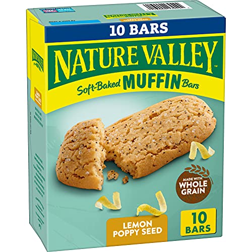 Nature Valley Soft-Baked Muffin Bars Lemon Poppy Seed, 12.4 oz, 10 ct x 3 for $5.29