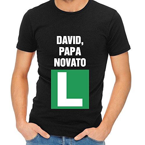 Camiseta Personalizada 'Padre Novato' - Regalo para Padres primerizos (Negro)