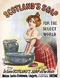 Kühlschrankmagnet mit schottischer Seife für die ausgewählte Welt, Shabby-Chic-Stil,...