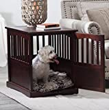dual purpose end table/crate for pet in classical furniture design