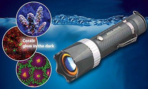 Aqua Medic Blue, Fluoreszierende LED Taschenlampe aus Aluminium