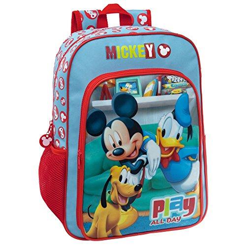 Disney Mickey Play Set de Sac Scolaire, 40 cm, 15.6 L, Rouge