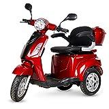 Virtuemart Ecoxtrem Triciclo eléctrico para Movilidad recudida con Silla, Scooter eléctrico de 3 Ruedas minusválido 650w Color Rojo
