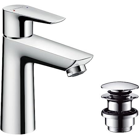 Hansgrohe 71711000 Talis E grifo de lavabo, 110 mm con vaciador Push-Open, cromo