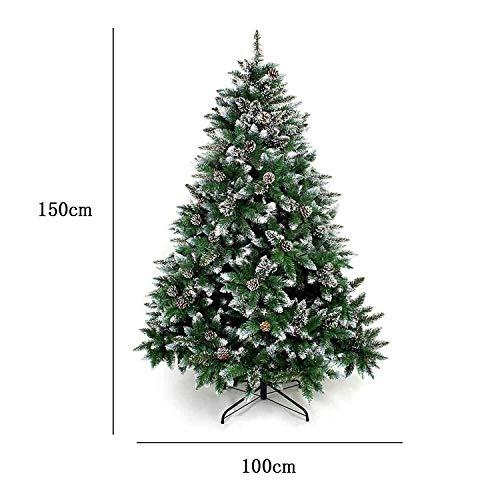 クリスマスツリー 150cm オリジナルツリー 松かさスノータイプ ヌードツリー グリーン 組み立て式 北欧タイプ