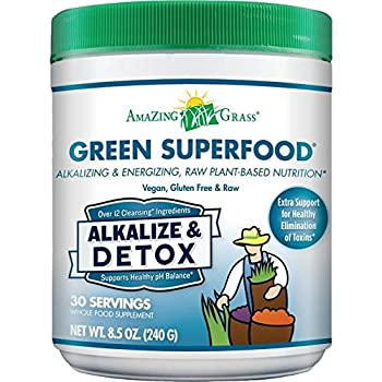 Amazing Grass Alkalize Detox Green Superfood - 240g  0.53lbs