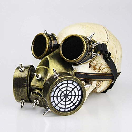 Halloween Cosplay, Horror Halloween, Halloween Horror Grimace Ghost, Halloween Props, Steampunk Gas Masker, Goud