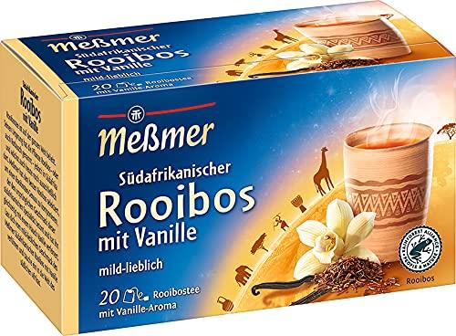 Meßmer Ländertee | Südafrikanischer Rooibos-Vanille Tee | 20 Teebeutel | Glutenfrei | Laktosefrei | Vegan