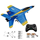 RC Plane Remote Control Airplane - OTTCCTOY RTF RC Plane 2 Channel Remote Control Airplane, 2.4GHz Radio Control F18 Jet Aircraft with 2 Batteries