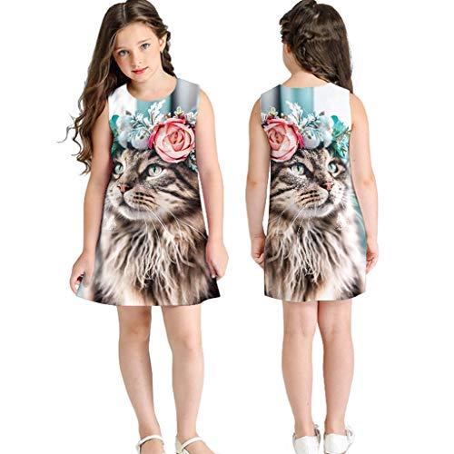 K-youth Vestidos Bebé Vestido de plisar Multicolor 78 años para Chicas Multicolour 3 7-8 Years