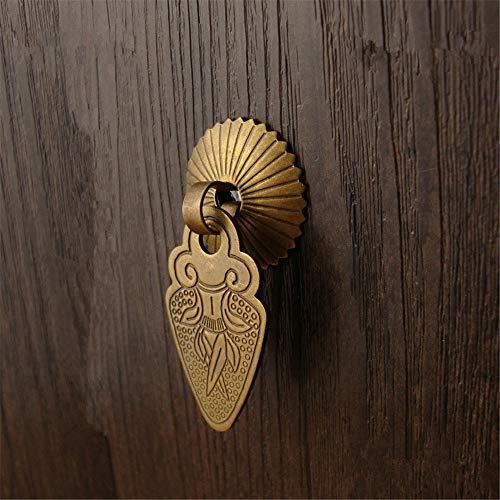 Herrajes para puertas Manijas para puertas Gabinete de latón pulido Tirador de la puerta Gabinete Zapatero Gabinete Cajón Manija Muebles antiguos Herrajes Manija pequeña Decoración arquitectónica anti
