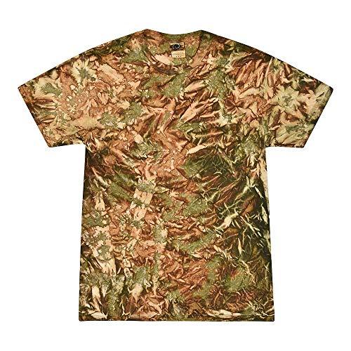 Krazy Tees Colortone Tie Dye T-Shirt, Camo-S