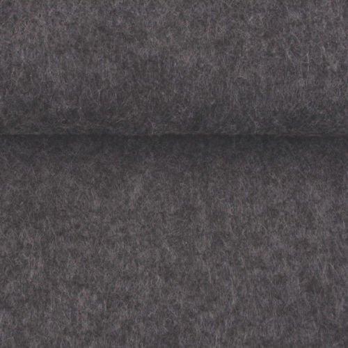 ggm Filz Filzstoff Taschenfilz 4mm, einseitig beschichtet, Meterware, versch. Farben, 45 cm breit (hellgrau meliert)
