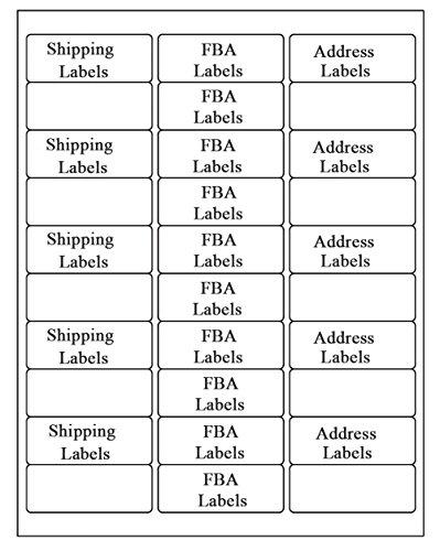 """SJPACK 30-up Labels Address Labels 1"""" x 2-5/8"""" White Mailing Labels for Laser Inkjet Printers, 500 Sheets"""