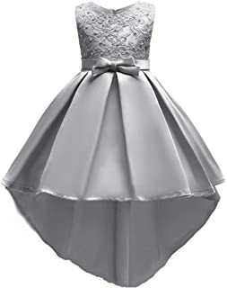 OBEEII Little Big Girl Flower Hi-Lo Dress Pageant First Communion Wedding Birthday
