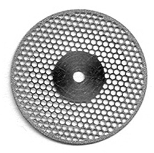 VAL-Lab D934-220(400.514.220)/UM Diamond Disks, Premium Quality, Super Flex, Double Sided/UnMounted, Size 22 mm, Thickness 0.20 mm, 50 μm, Medium Grit (Pack of 2)