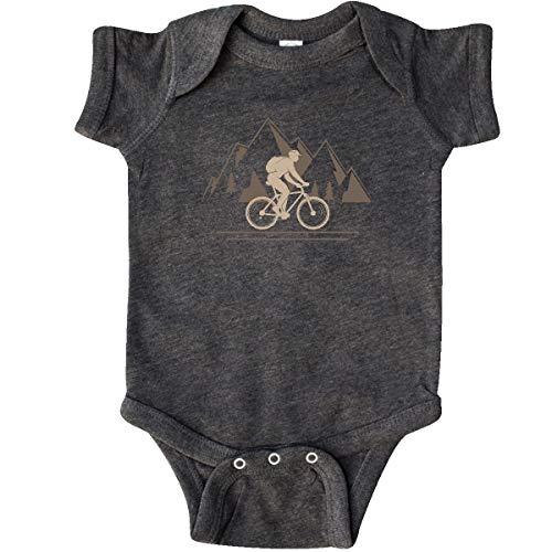 inktastic Mountain Biking Adventure Infant Creeper 6 Months Retro Heather Smoke