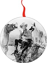 Roy Rogers and Trigger Christmas Tree Holiday Ornament Printed Double- 2 Sided Decoration Great Unisex