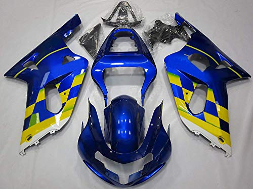 ZXMOTO Yellow & Blue Painted With Graphic Fairing Kit for Suzuki GSXR 600 750 K1 (2001 2002 2003)
