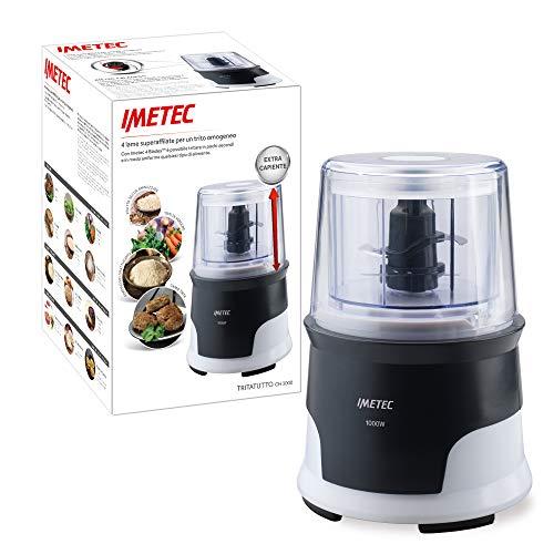 Imetec CH 3000 - Picadora, 4 Cuchillas de Acero Inoxidable, Recipiente de Gran Capacidad de 600 ml, 18.000 rpm, Funcionamiento a Presión, 1000 W