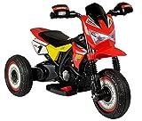 fit4form Kinder Elektro Motorrad Dreirad TRIMOTO II PRO Rot Kindermotorrad elektrisch LED