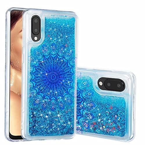 Funda para Samsung Galaxy A72 5G, para niñas y mujeres, con purpurina 3D, diseño de arena movediza, transparente, gel de silicona TPU a prueba de golpes, para Samsung Galaxy A72 5G perro