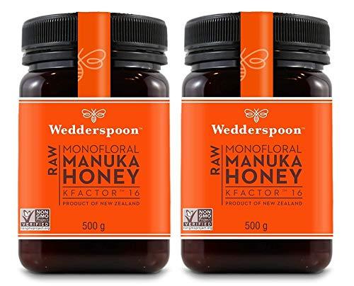 Wedderspoon Hygiplas 16+ miel de Manuka activa 500g (Paquete de 2)