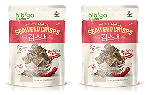 BIBIGO Oven Baked Brown Rice and Seaweed Crisps 20g (Pack of 2) (Hot Spicy)