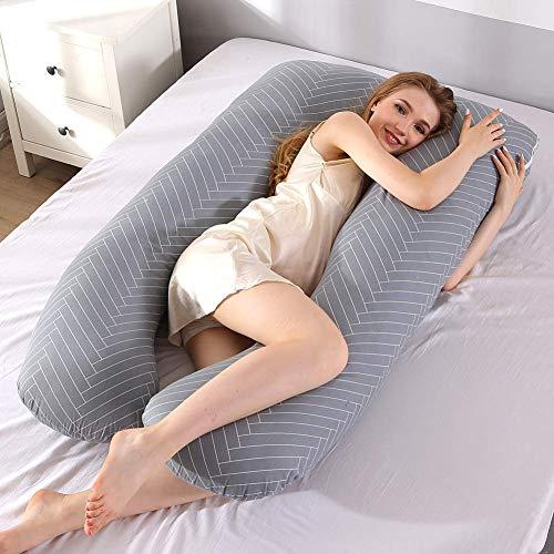 XiuLi U Pillow Body Back Support Enfermería Maternidad Embarazo Discapacidad Fibromialgia Almohada de Ayuda para la Maternidad Memory Foam Full Body Maternity...