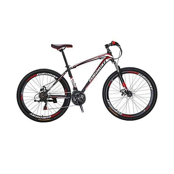 Mountain Bikes Eurobike X1 Mountain Bike 21 Speed Dual Disc Brake 27.5 Wheels Suspension Fork Mountain Bicycle [tag]
