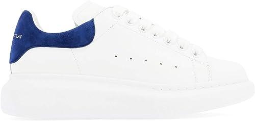 Alexander McQueen 553770WHGP79086 Damen Weißs blau Leder Turnschuhe
