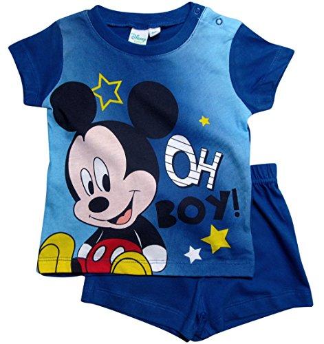 Mickey Mouse Mickey Mouse Kollektion 2018 Schlafanzug 68 74 80 86 92 Jungen Shorty Pyjama Shortie Disney Maus (Blau, 68-74)