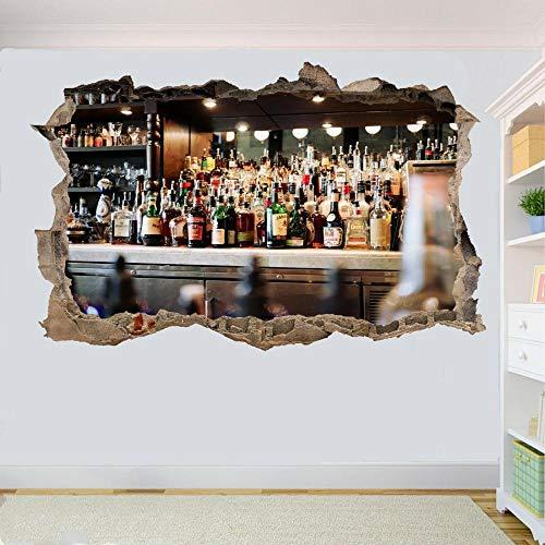 Yxsnow 3D Pegatinas de pared Mans Extraíble Agujero en la pared Vinilo Decorativo Pegatinas Vista de Efecto Adhesivos De Pared