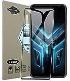 Aidinar.2 Pezzi,Vetro Temperato Pellicola Protettiva per ASUS ROG Phone 3 ZS661KS Smartphone, [9H Durezza] [Anti-Graffio] Screen Protector.Nero