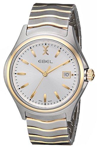 EBEL Reloj de cuarzo suizo para hombre 1216202 Wave con visualización analógica de dos tonos