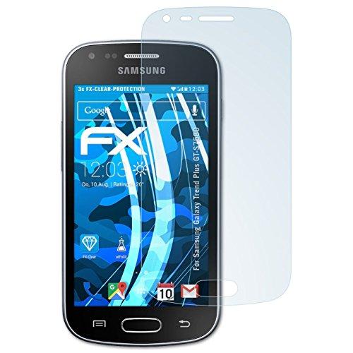 atFolix Schutzfolie kompatibel mit Samsung Galaxy Trend Plus GT-S7580 Folie, ultraklare FX Displayschutzfolie (3X)