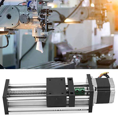 CENPEN Carril de guía lineal, tornillo de bola de doble eje de aleación de aluminio con motor 57 para la industria de la automatización (10mm)
