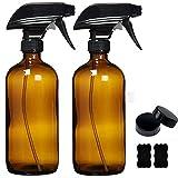 Afufu Pulverizador Cristal, Vaporizador Spray, Botella Pulverizador con Gatillo, Botes Spray Vacios para Aceites Esenciales, Limpieza, Plantas(2 x 500mL)